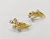 1081 Серьги с бриллиантами золото 750 пробы