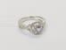 1011 Перстень с бриллиантами белое золото 750 пробы
