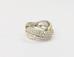 965 Кольцо с бриллиантами белое золото 750 пробы